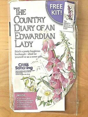 Country Diary Of Edwardian Lady Cross Stitch BOOKMARK Kit FOXGLOVES Mothers Day • 3.49£