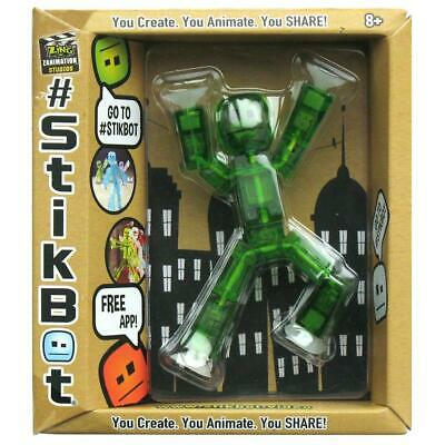 StikBot Single Posable Action Figure Toy: TRANSLUCENT GREEN (3 ) • 5.99£