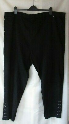 Ladies Plus Size YOURS Black Jeggings W/ Lace Up Detail Size 30/32 UK Only • 12.50£