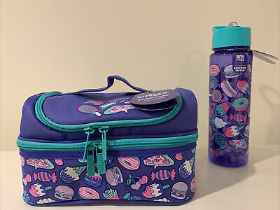 $ CDN28.22 • Buy Smiggle Double Decker Sandwich Lunch Box Bag Water Drinks Bottle Set BNWT