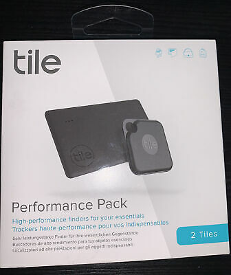 Tile Performance Pack 2020 2pack Bluetooth Tracker, Item Locator Finder For Keys • 43.25£