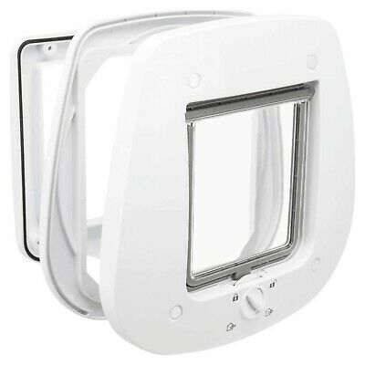 £37.99 • Buy Trixie 4-Way Cat Flap For Glass Doors, White, 680 G