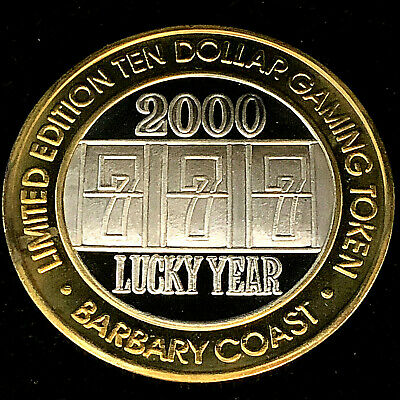 $26.88 • Buy $10 Barbary Coast Silver Strike •.999 Silver •Las Vegas • Lucky Year 777, 2000