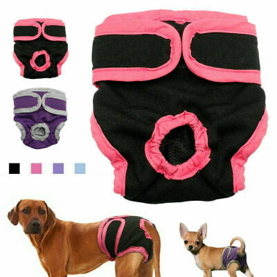 £5.49 • Buy Female Pet Dog Physiological Pants Sanitary Nappy Diaper Shorts Underwear S-XL