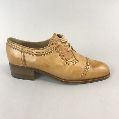 £49.59 • Buy Vtg Russell Bromley Moreschi Gordon Tan Leather Lace Up Smart Dress Shoes UK6