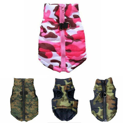 Dog Pet Waterproof Clothes Padded Coat Camouflage Warmer Winter Jacket Top Vest • 6.59£