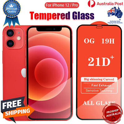 AU3.99 • Buy For IPhone 11 12 Pro Max X XS XR Plus Tempered Glass Full Cover Screen Protector