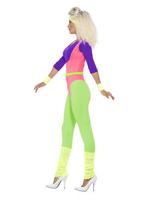 AU85.75 • Buy 80s Work Out Costume, With Jumpsuit, Neon