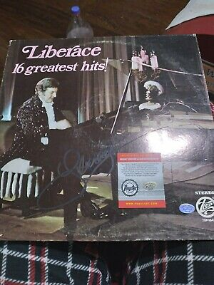 Autographed LIBERACE  16 Greatest Hits Album Cover Pinpoint COA (No Record) • 42.91£