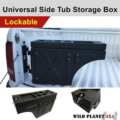 AU189 • Buy Ute Tub Lockable Universal Side Tool Box Trailer Ute Black