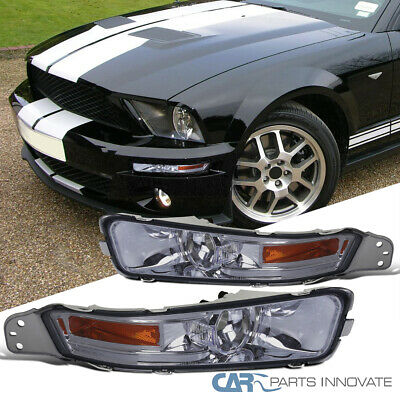 $26.55 • Buy For 05-09 Ford Mustang GT Smoke Front Bumper Lights Turn Signal Lamps Left+Right