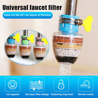 £5.83 • Buy Faucet Kitchen Home Tap Water Clean Purifier Filter Universal Faucet Interface