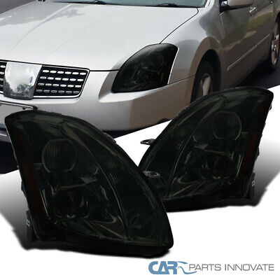 $207.95 • Buy For Nissan 04-06 Maxima Smoke Lens Projector Headlights Tinted Head Lamps Pair