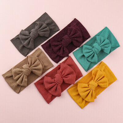 £2.59 • Buy Baby Girl Head Wrap Children Solid Color Hair Accessories Knot Bow Soft Headband