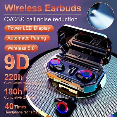 AU27.61 • Buy 8000mAh Bluetooth 5.0 TWS Earphones LED Wireless Earbuds Noise Cancelling Stereo