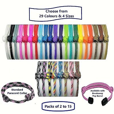 £3.74 • Buy Paracord Whelping ID Collars; Adjustable Puppy-Kitten Bands; Colour-Size Choice