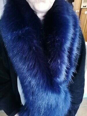 £15 • Buy Navy Faux Fur Extra Long Scarf/Stole