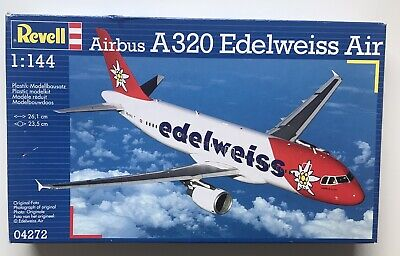 Revell 1:144 Airbus A320 Edelweiss Model Kit 04272 New & Sealed • 25£