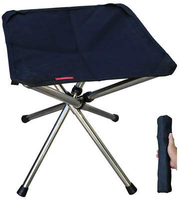 Camping Stool, Camping Chair, Foldable Fishing Tripod Chair, Garden Foot Rest • 18.70£