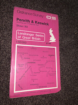 OS Ordnance Survey Landranger Map Sheet 90 Penrith And Keswick • 3.75£