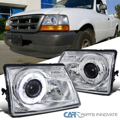 $90.20 • Buy For Ford 98-00 Ranger Pickup Clear Projector Headlights W/ Halo Rim Left+Right
