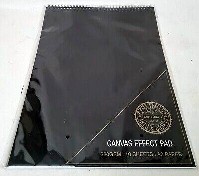 A3 SKETCH PAD 220gsm CANVAS EFFECT Quality Paper Arts Crafts COLVIN & CO  • 8.99£