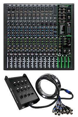 $514.95 • Buy Mackie ProFX16v3 16-Channel 4-Bus Effects Mixer W/USB ProFX16 V3+Snake Cable