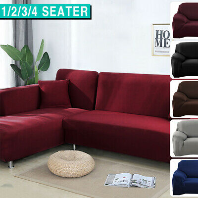 AU19.99 • Buy Sofa Cover Slipcover Protector Couch High Stretch Lounge Covers 1/2/3/4 Seater