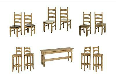 Seconique Corona Dining Room Benches And Chairs Solid Mexican Pine • 104.95£