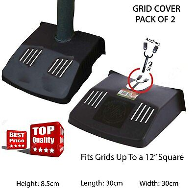 £8.99 • Buy 2 X Plastic Black Drain Garden Grid Gutters Covers Protector Leaf Guard Outside