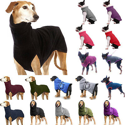 £8.09 • Buy Pet Dog Clothes Greyhound Jackets Coats Puppy Warm Jumper High Winter Sweaters