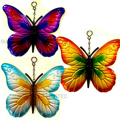 £3.75 • Buy Hanging Metal BUTTERFLY Garden Wall Fence Outdoor Decoration Sign Butterflies