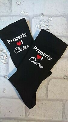 Personalised  Valentines Gift Socks For Him Or Her/ Wife/ Husband • 3.95£