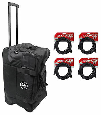 $164.95 • Buy Mackie Rolling Speaker Bag Carry Case For Thump12A & Thump12BST+(4) XLR Cables