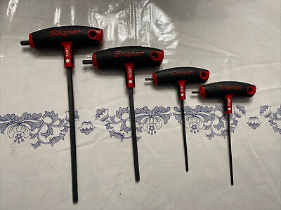 $ CDN75.96 • Buy SNAP ON 4 Piece T Handle & L Shaped Hex Wrench Set, Red AWSG
