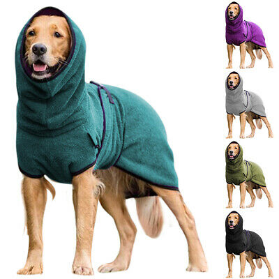 £6.79 • Buy UK Pet Clothes Dog Towelling Drying Robes Soft Sleepwear Coat Puppy Warm Apparel