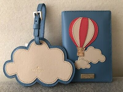 $ CDN219.90 • Buy Kate Spade Get Carried Away Hot Air Balloon Passport Holder & Cloud Luggage Tag