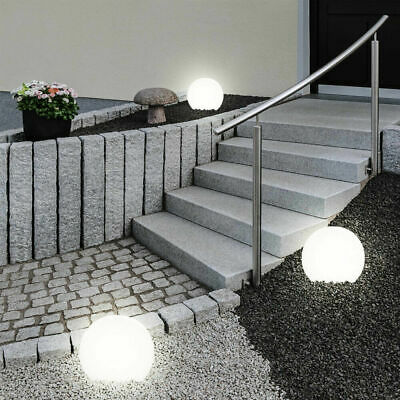 Large 20cm Jumbo Outdoor Garden White LED Ball Solar Light Lamp Giant Globe Post • 13.99£