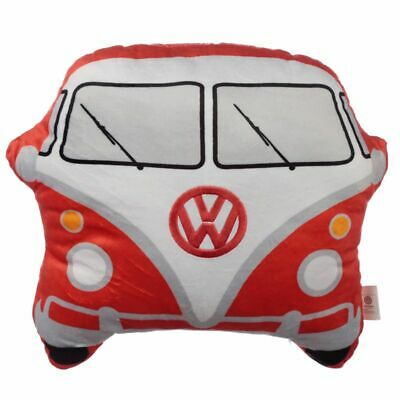 Official Vw Volkswagen T1 Red Campervan Shaped Plush Cushion • 9.95£