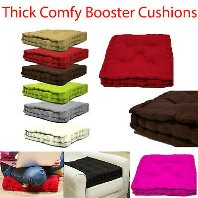 £9.99 • Buy Booster Cushions Luxury Cushion Seat Pads Chunky Padded Dining Chair Thick UK