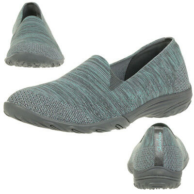 Skechers Empress Looking Good Ladies Summer Shoes Slip On Slippers Grey Green • 44.32£