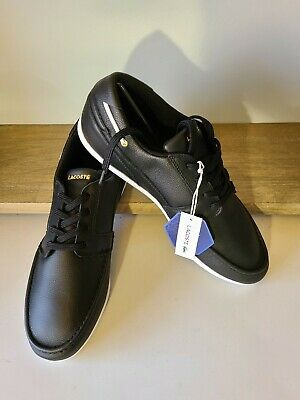 Lacoste Men's Dreyfus AP Sneakers Black W/Gold Size 12 - Black • 35.43£