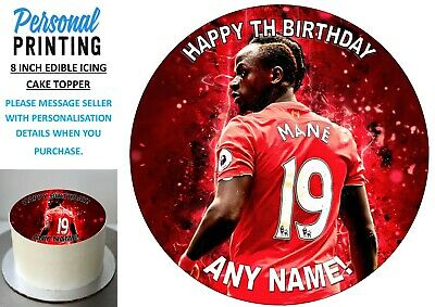 MANE BACK OF SHIRT LIVERPOOL 8 Inch Edible Icing Cake Topper Fan Football Love • 6.49£