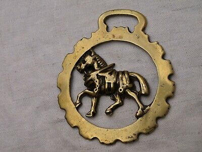 Antique Cast Horse Brass - Shire With Harness Etc • 6.99£