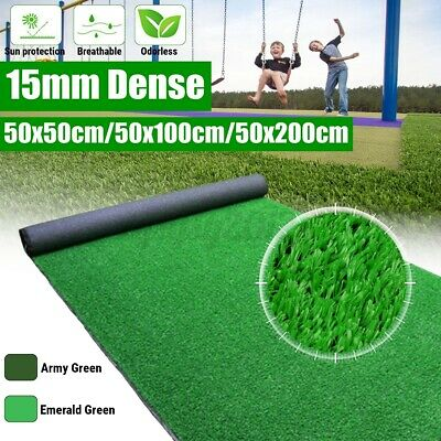 £10.99 • Buy UK Artificial Turf Grass Synthetic Realistic Indoor Outdoor Mat Fake Lawn Carpet