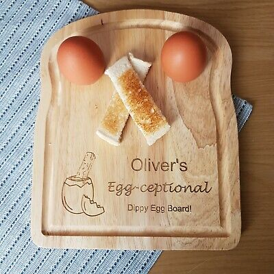 £13.50 • Buy Personalised Egg-ceptional Dippy Egg Cup Breakfast Board, Funny Gift For Him/her
