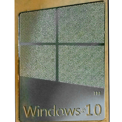 $ CDN30.45 • Buy WINDOWS® 10 Pro Silver Chrome Metallic ¦ STICKER | 16 X 22.5mm
