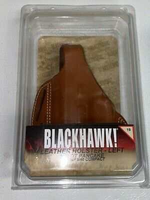 $16 • Buy Blackhawk Leather Pancake Holster For S&W MP 9/40 Compact Brown Left Hand
