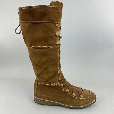Timberland Hollace Tall Brown Distressed Lace Zip Waterproof Boots US8.5 UK6.5 • 59.10£