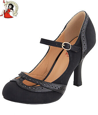 AU90.66 • Buy Banned Retro Angel 40s 50s Shoes Heels Brogue Black